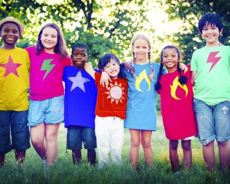 Diverse children friendship