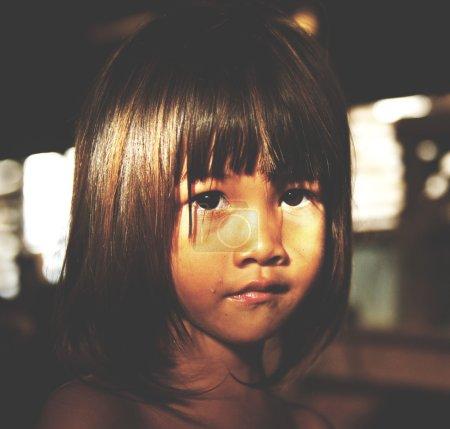 girl staring at the camera