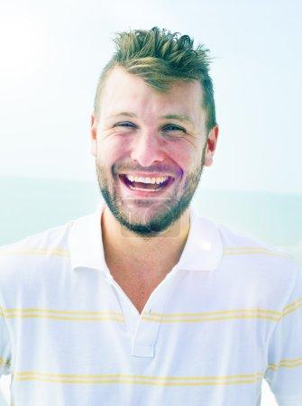 Handsome Man at Beach Concept