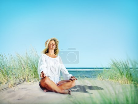 Woman doing Meditation Concept