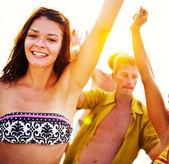 Lidé oslava Beach Party koncept