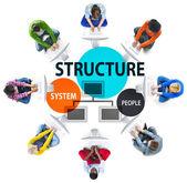 / Obchodní struktura vývojový diagram koncept