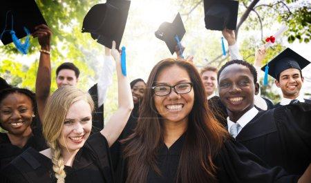 Photo for Diversity Students Celebrating Success Graduation Concept - Royalty Free Image