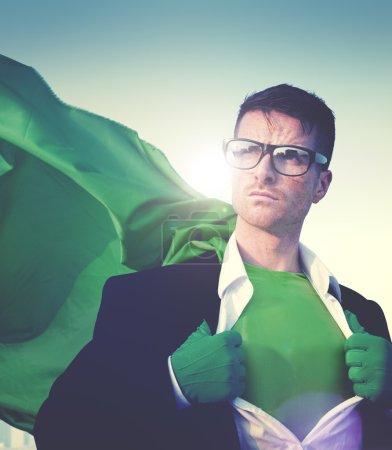 Strong Superhero Businessman