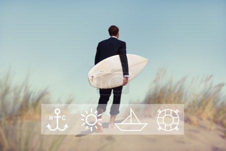 Businessman Activity Vacations Concept