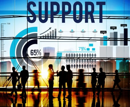 Support Team Teamwork Help Concept