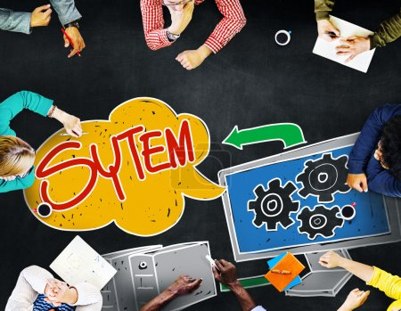 Business People and System Concept