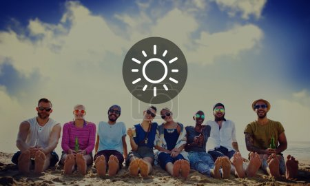 Sunlight sign, Sunny Summer Vacation Concept