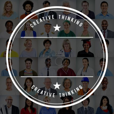 Diversity People with Creative Thinking Concept