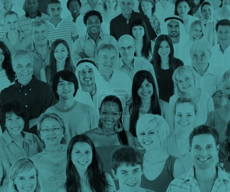 Photo for Large group of Diversity people standing together, togetherness and unity concept - Royalty Free Image
