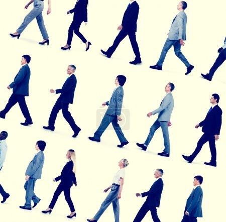 Business People Travel Walking Concept
