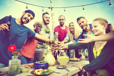 Summer Friends Teamwork Concept