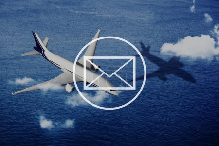 plane, Email Mail Messaging Concept