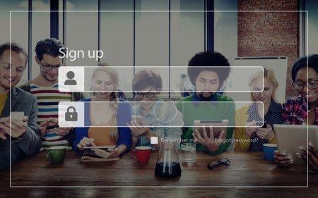 Sign Up Registration Concept