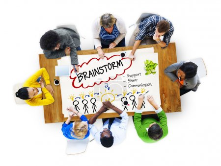 Brainstorming, Share Communication Concept