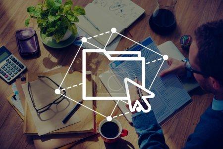Folder Sharing, Computer Network Concept