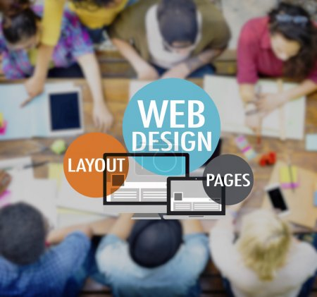 Photo for Web Design Website WWW Layout Page Connection Concept - Royalty Free Image