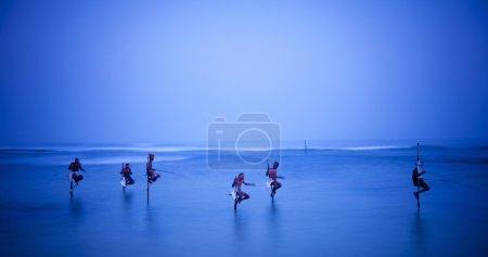 Traditional Fishermen in Sri Lanka
