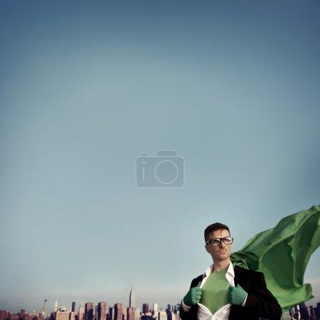 Superhero Businessman Concept