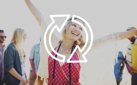 Refresh Renew Icon Concept