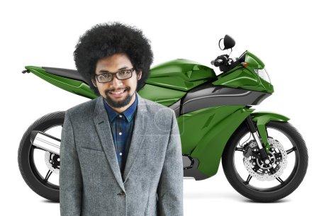 Motorbike or Motorcycle, Transportation Concept