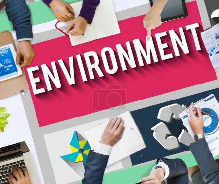 Group of Business People and Environment