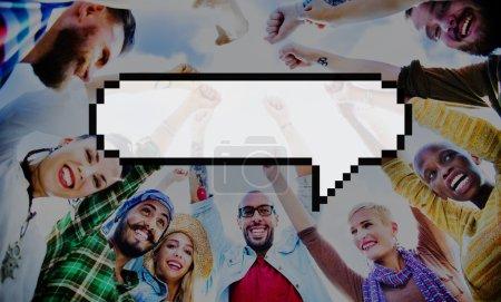 Speech Bubble Message Annouce Concept