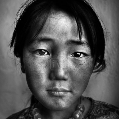 Mongolian Girl Portrait