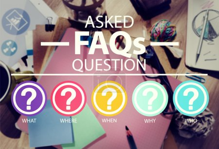 Frequently Asked Questions Concept