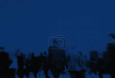 dark Silhouettes of Business People