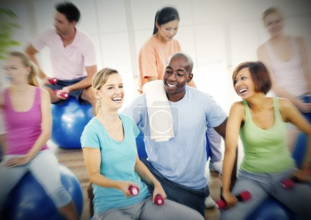 Photo for Group of People Exercising Fitness Wellbeing Concept - Royalty Free Image