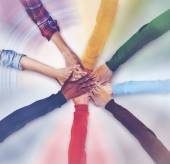 Group of Diverse Hands Together