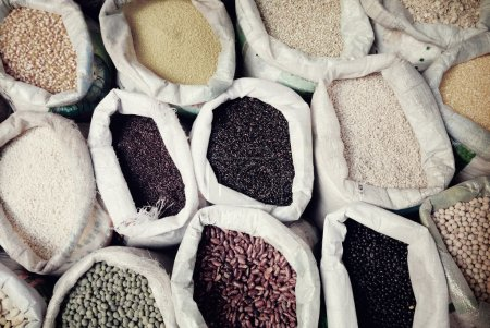 Sacks Of Legumes And Grains