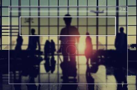 Photo for Business Corporate workers Silhouettes - Royalty Free Image