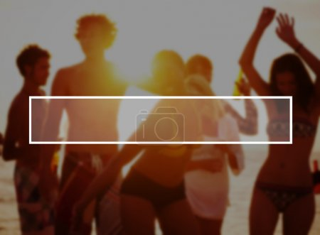 group of people at Summer Vacation Concept