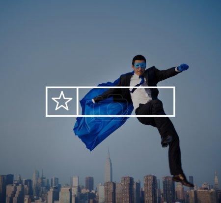 Businessman in Superhero costumes