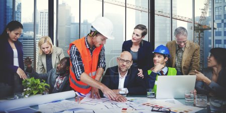 Architects and Designers Working in Office