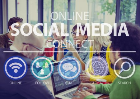 Online Social Media Concept