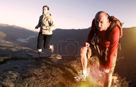 Extreme Athletes in Mountains