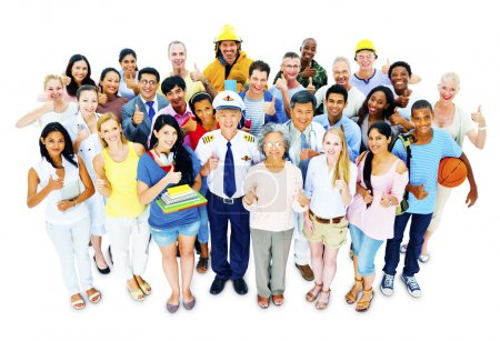 Diversity People with Various Professional Occupations
