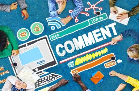 Comment Post Share Social Media