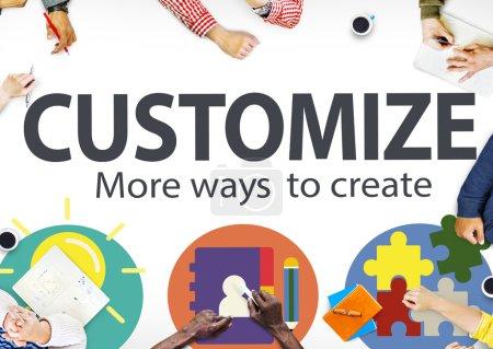 Customize Ideas Concept
