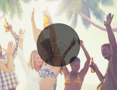 People at Beach Party Concept