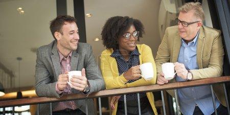 Business team having coffee break