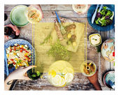 Letní dovolená dovolená večeře koncept