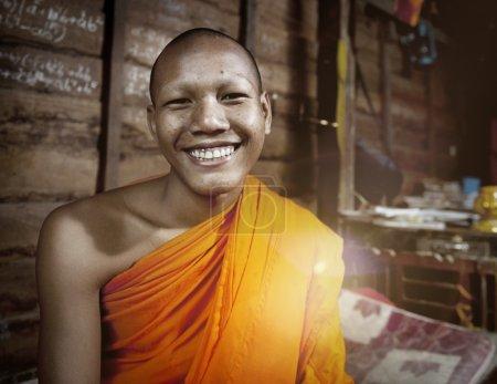 Smiling Cambodian Monk