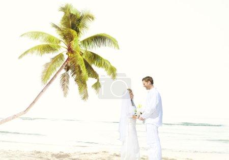 Couple Romance at Beach Concept