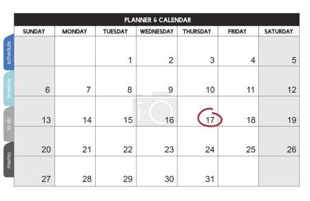 template with calendar concept