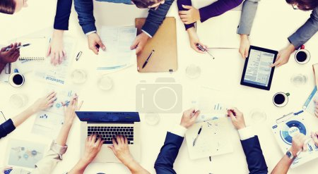 Business People on Meeting Brainstorming Concept