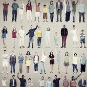 Skupina mnohonárodnostní příležitostné lidí